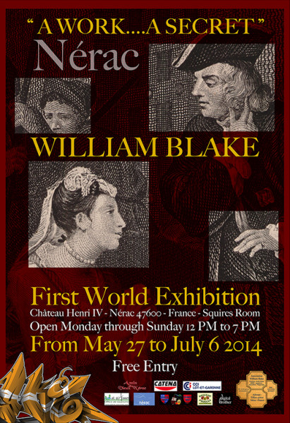 William Blake Nerac France Exposition Premiere Mondiale Une Oeuv